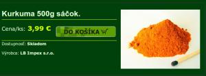 Kurkuma 500g sáčok.   Kurkuma   Koreniny   Koreniny.sk